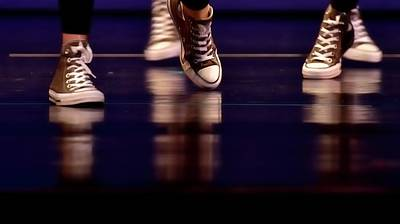 Jerry Sodorff Royalty-Free and Rights-Managed Images - Dancing Shoes Reflections by Jerry Sodorff