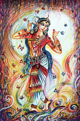 Painting - Dancing With Butterflies by Harsh Malik