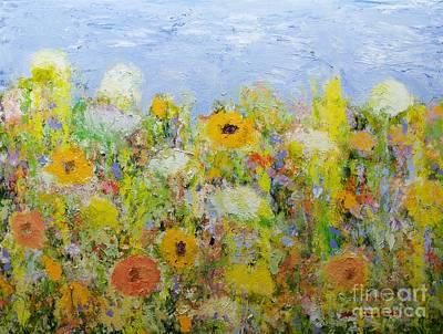 Painting - Dandelion Dust by Allan P Friedlander