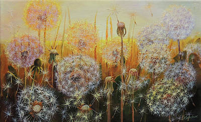 Wall Art - Painting - Dandelion Fluff 2 by Oleg Riabchuk
