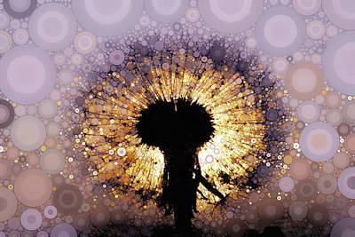 Mixed Media - Dandelion Twilight by Susan Maxwell Schmidt
