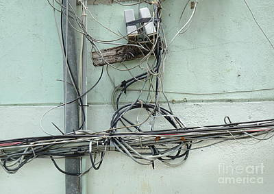 Photograph - Dangerous Electrical Wiring by Yali Shi