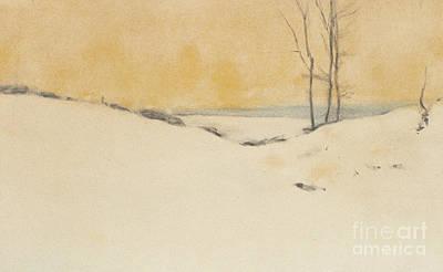 Painting - Dans La Neige, 1916  by Fernand Khnopff