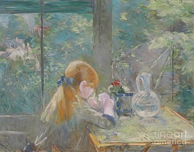 Painting - Dans La Veranda, 1884 by Berthe Morisot