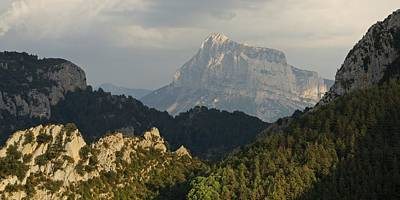 Photograph - Dappled Light On Pena Montanesa by Stephen Taylor