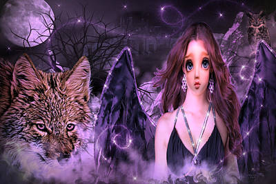 Digital Art - Dark Angel by Artful Oasis