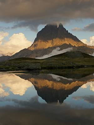 Photograph - Dark Clouds Close In Above Midi D'ossau by Stephen Taylor