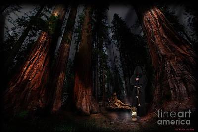 Digital Art - Dark Forest by Lutz Roland Lehn