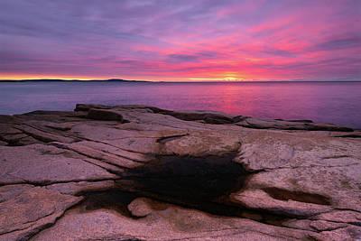 Photograph - Dark Pool On Granite by Michael Blanchette