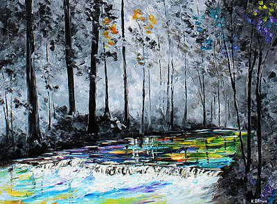 Painting - Dark Stream by Kevin Brown