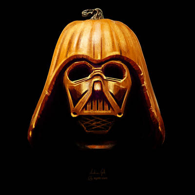 Digital Art - Darth Pumpkin by Andrea Gatti