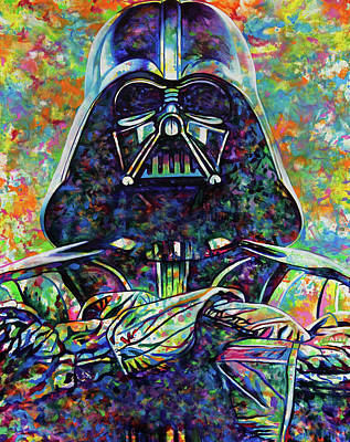 Painting - Darth Vader There Is Still Good In Him by Joshua Morton