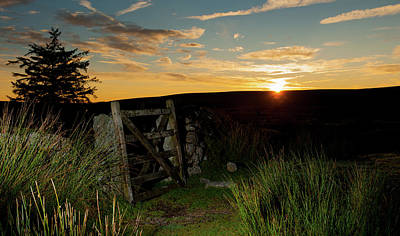 Photograph - Dartmoor Gate At Sunrise by Helen Northcott