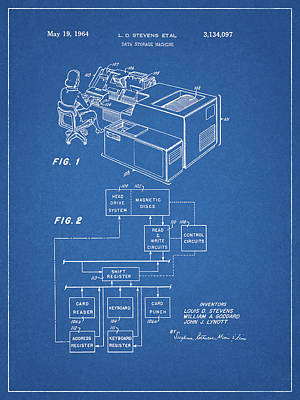 Drawing - Data Storage Patent by Dan Sproul