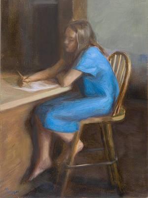 Painting - Daughter in Blue II by Thimgan Hayden