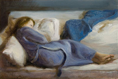 Painting - Daughter in Blue I by Thimgan Hayden