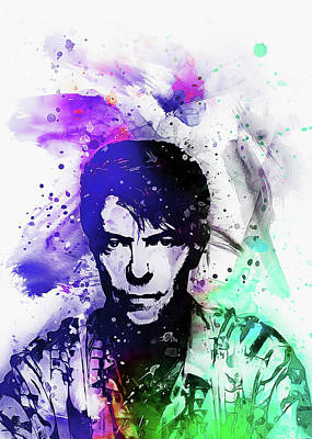 Digital Art - David Bowie  Art by Ian Mitchell