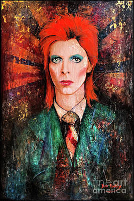 Painting - David Bowie Is Real by Dori Hartley