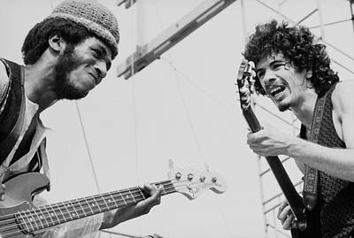 Photograph - David Brown Plays With Santana At by Tucker Ransom