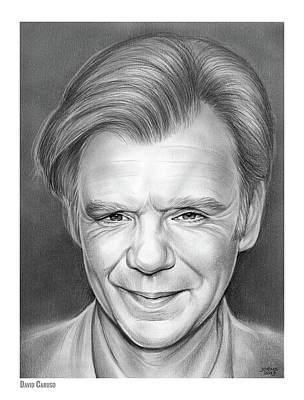 Blue Drawing - David Caruso by Greg Joens