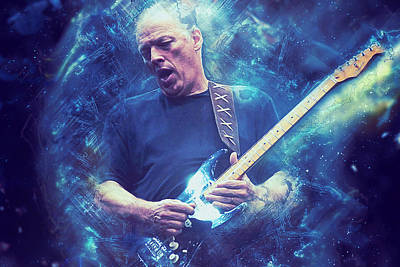 Painting - David Gilmour - 01 by Andrea Mazzocchetti