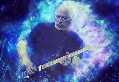 Painting - David Gilmour - 02 by Andrea Mazzocchetti