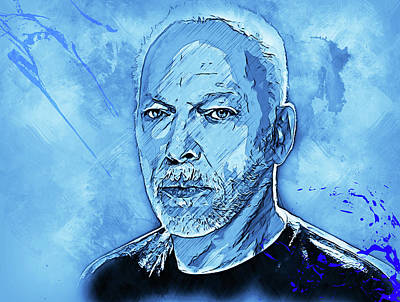 Painting - David Gilmour - 04 by Andrea Mazzocchetti