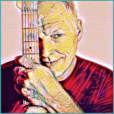 Digital Art - David Gilmour by Gary Grayson