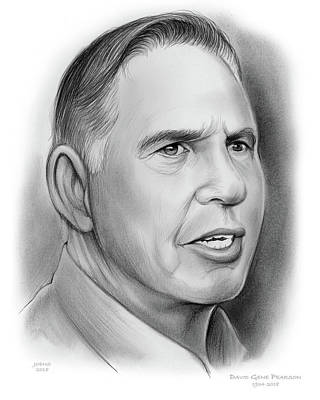 Drawing - David Pearson by Greg Joens