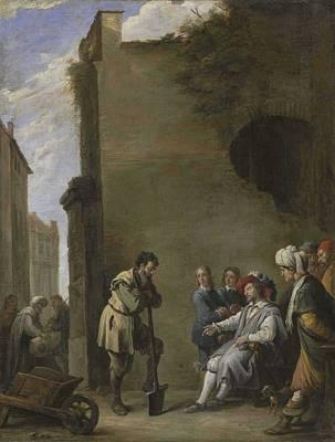 Kids Alphabet - David Teniers II  Antwerp 1610-1690 Brussels The Parable of the Laborers in the Vineyard by David Teniers