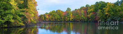 Photograph - Davidson's Mill Pond Autumn Panorama  by Michael Ver Sprill