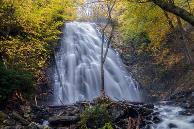 Dawn At Crabtree Falls Art Print