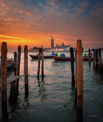 Photograph - Dawn Deliveries...venice.    by Tim Bryan