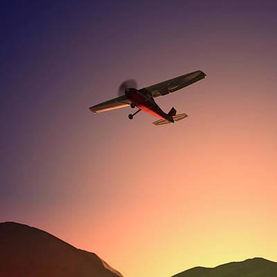 Photograph - Dawn Flight Xl by Beholdingeye