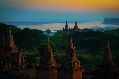 Photograph - Dawn In Bagan by Chris Lord