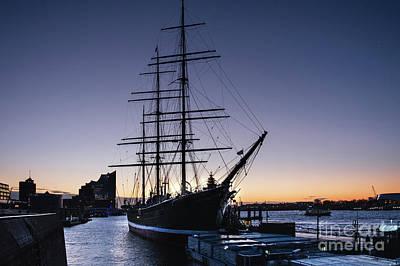Photograph - Dawn In San Pauli. Wintertime In Hamburg by Marina Usmanskaya