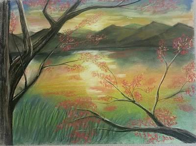 Pastel - Dawn Landscape by Lisa Bunsey