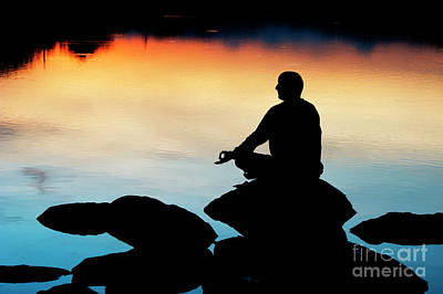Photograph - Dawn Meditation Silhouette by Tim Gainey