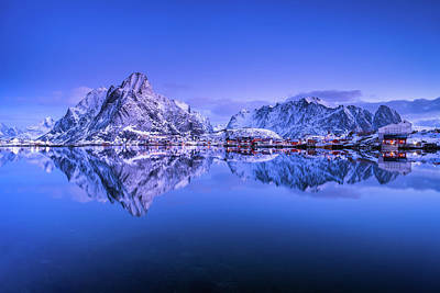 Photograph - Dawn Over Reine by Michael Blanchette