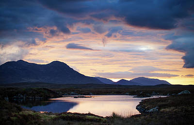 Photograph - Dawn over the Twelve Bens Connemara, Ireland by Peter McCabe