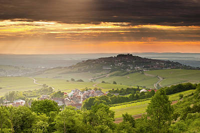 Tranquility Photograph - Dawn Over The Vineyards Of Sancerre by Julian Elliott Photography