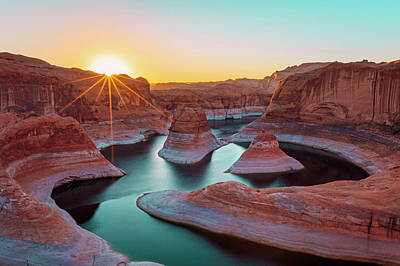 Photograph - Dawn Rays At Lake Powell by Johnny Adolphson