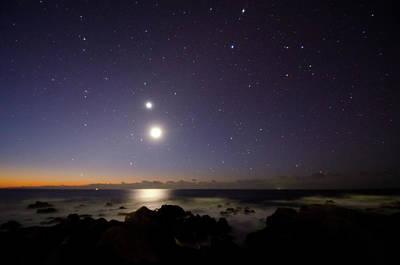 Photograph - Dawn Starry Night by Noriakimasumoto