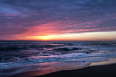 Photograph - Dawn's Fire On The Horizon by Debra and Dave Vanderlaan