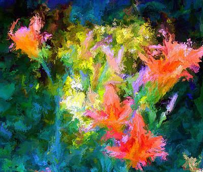 Digital Art - Day Lilies by Rein Nomm