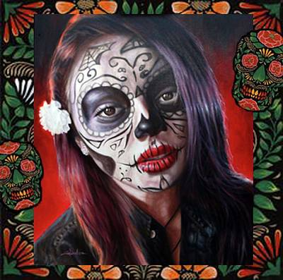 Vermeer Rights Managed Images - Day of the Dead Beauty Royalty-Free Image by Stanton White