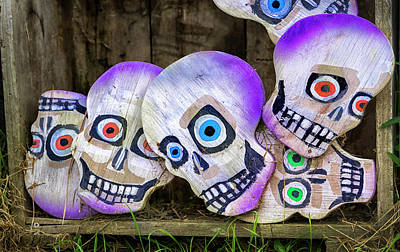 Photograph - Day Of The Dead Decorations by Phil Cardamone