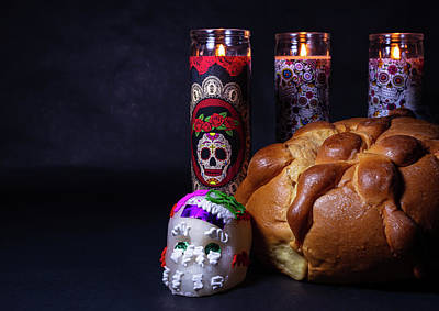 Photograph - Day Of The Dead Ofrenda by Miriam Bade