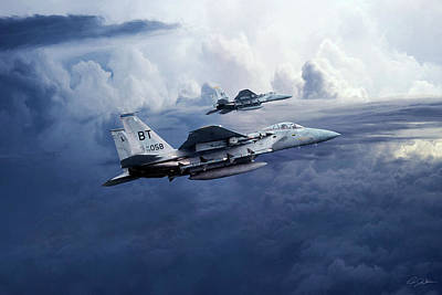 F15 Wall Art - Digital Art - Day Of The Eagle by Peter Chilelli