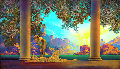 Nudes Royalty-Free and Rights-Managed Images - Daybreak by Maxfield Parrish